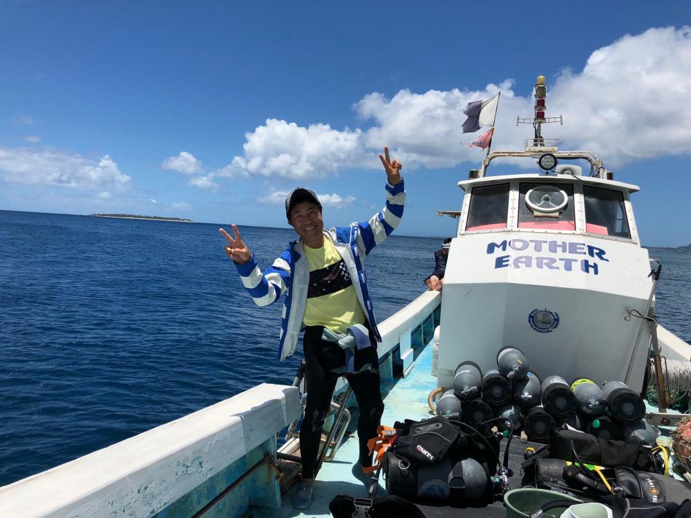 毎年夏になると社員旅行で沖縄に行きます。ダイビング免許も持っていてMSDランクまで取得しています。